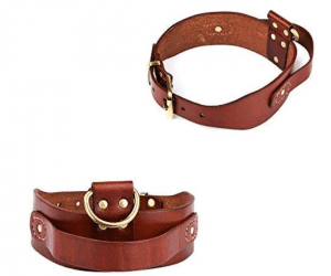 Peshouco real genuine dog collar With D-Handle