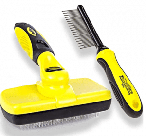 Shedtitan self cleaning slicker brush